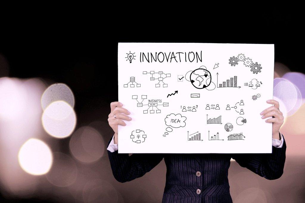 gráfico de plan de marketing innovador