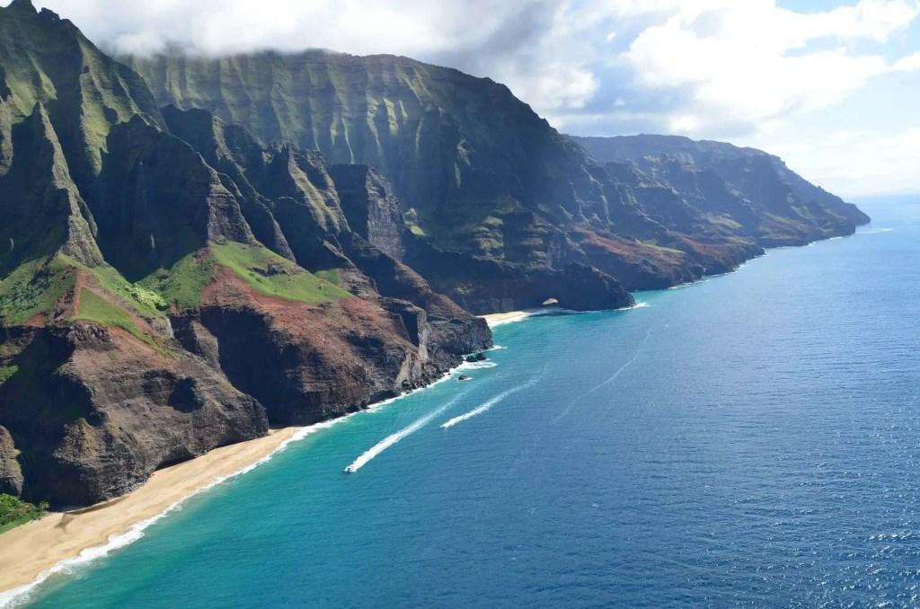 na pali coastline on kauai