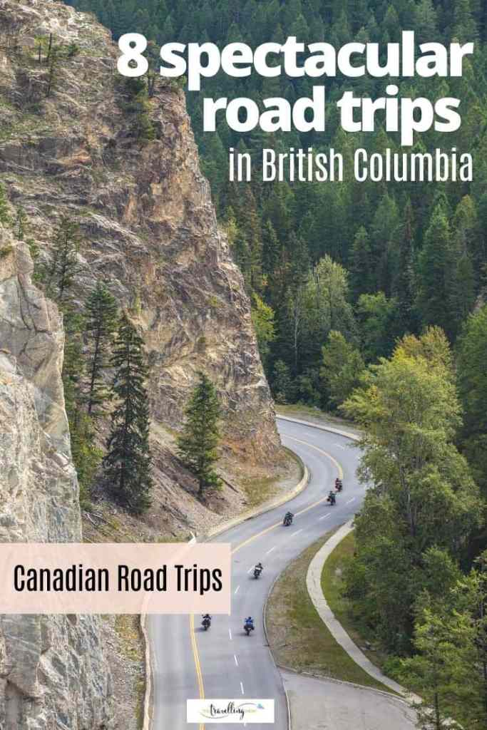 motorcycles on mountain road in bc