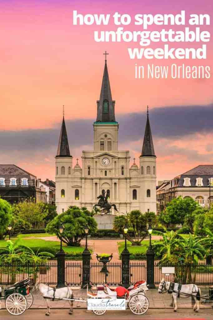 jackson square new orleans at sunset