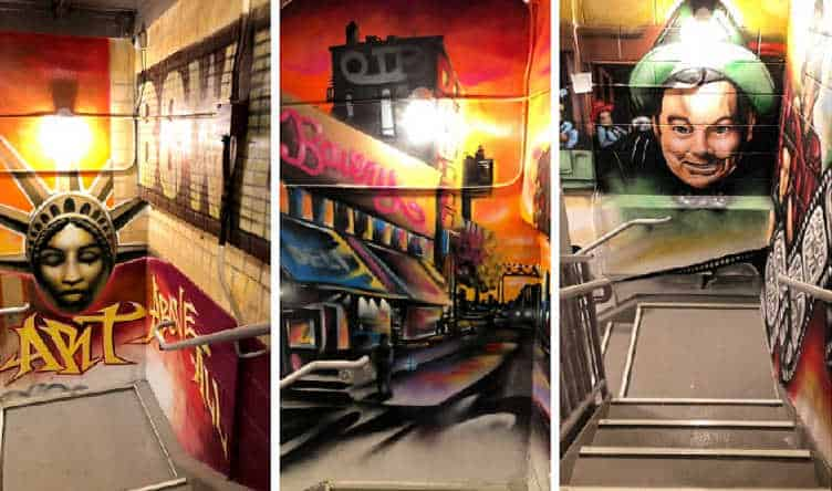 The new MoSA street art bowery graffiti museum in New York City is a must-see for anyone who loves creative expression and incredible graffiti done by pros.