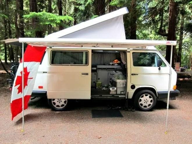 vw westfalia camping in bc