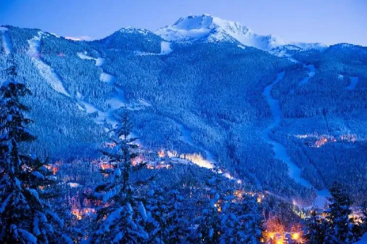 whistler mountain in winter whistler creekside