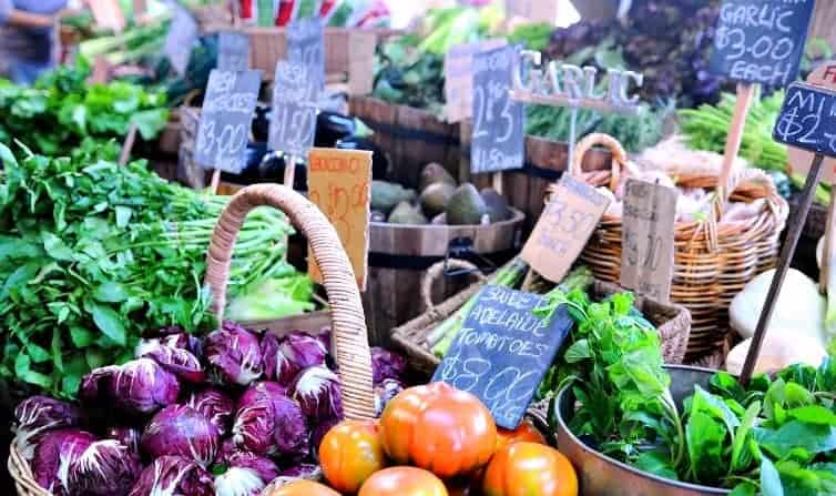 Keeping healthy on the road involves discovering your local market and grocery store (via thetravellingmom.ca)