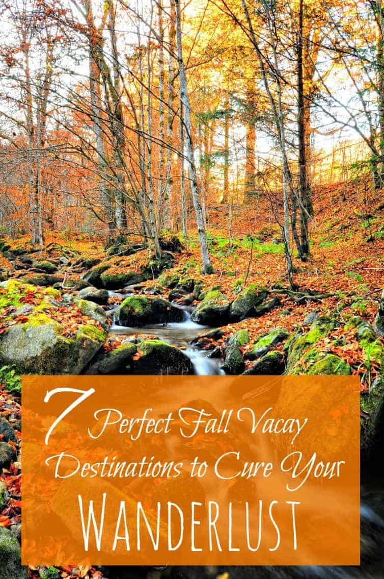 These seven, fabulous fall vacation ideas and destination options will help cure your wanderlust for off-peak autumnal travel adventures. Number four is one of our favorites!