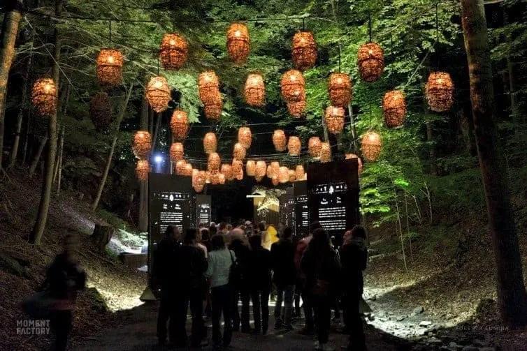 light lanterns at vallea lumina whistler