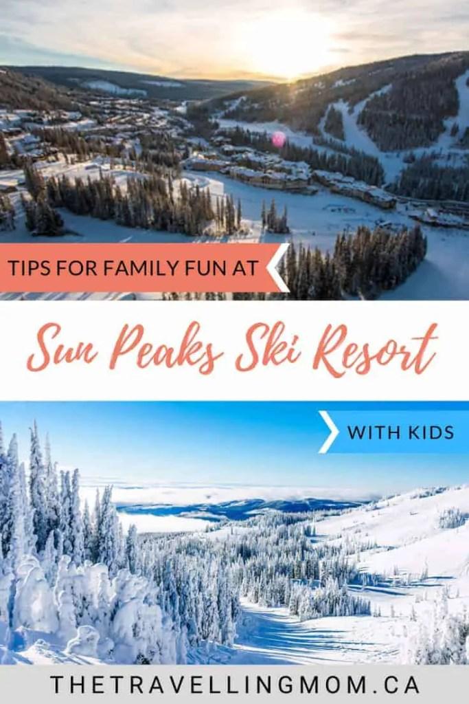sun peaks ski resort in winter