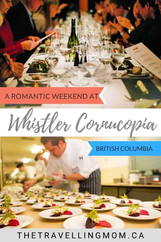 dining table at whistler cornucopia