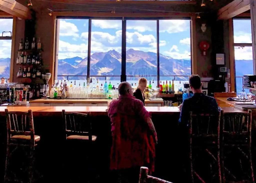 bar at eagle's eye at kicking horse resort