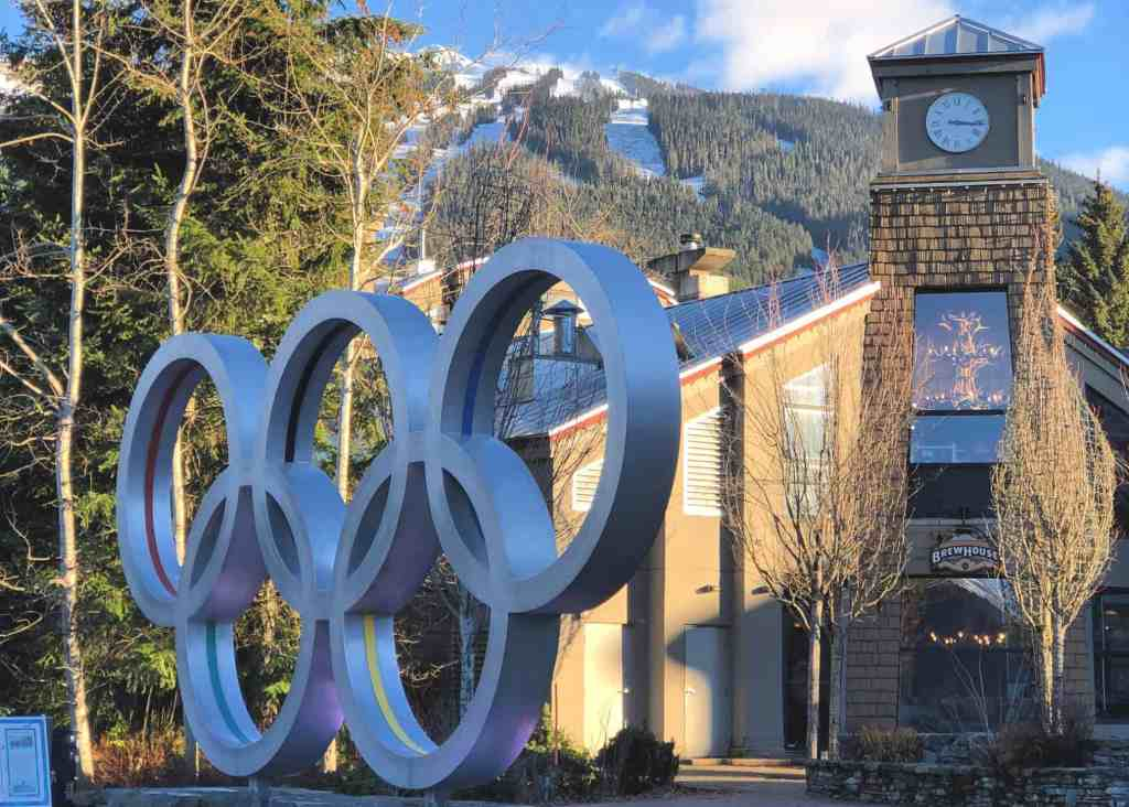 whistler olympic rings in whistler village