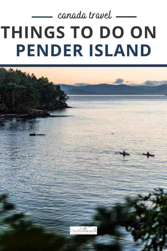 two kayakers on pender island