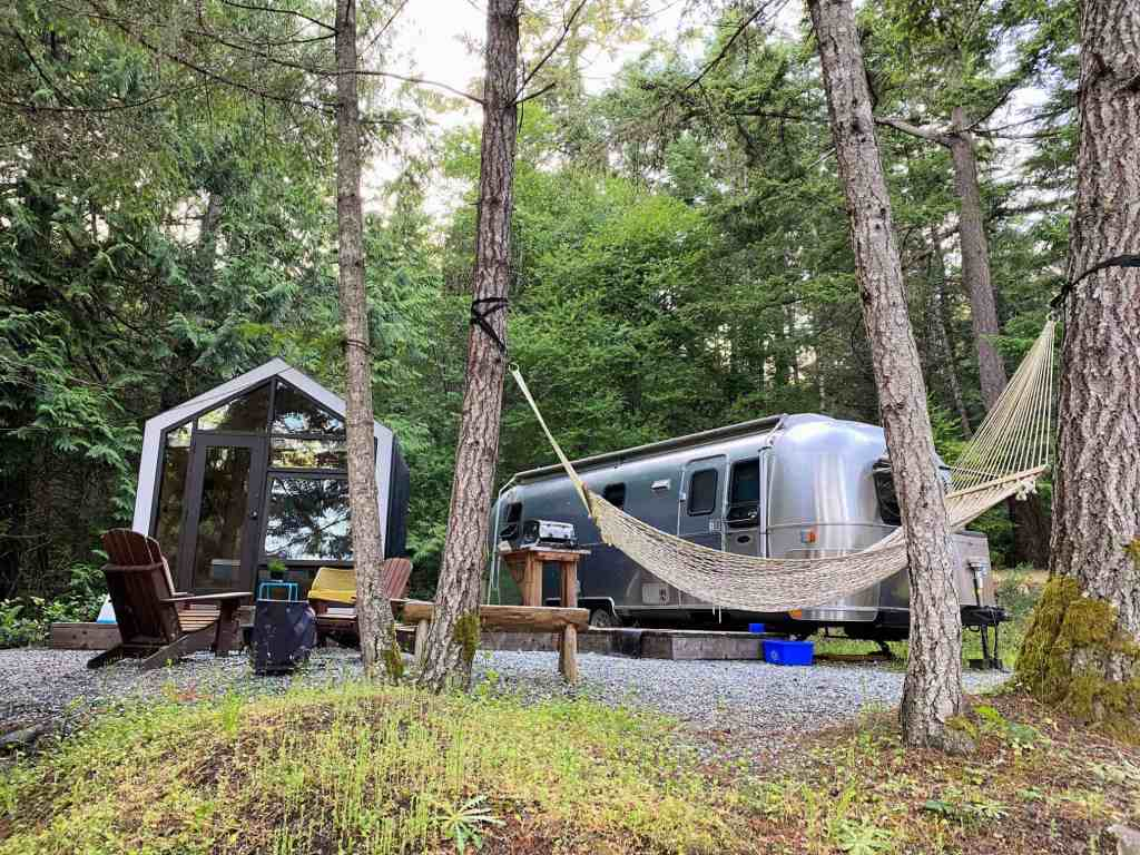 woods on pender airstream and cabin