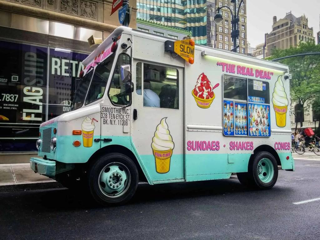 ice cream truck in new york