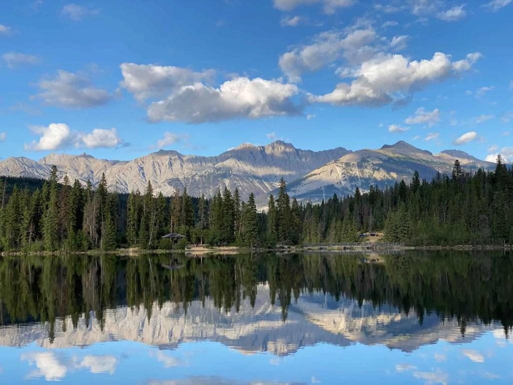 jasper rocky mountains in sunshine