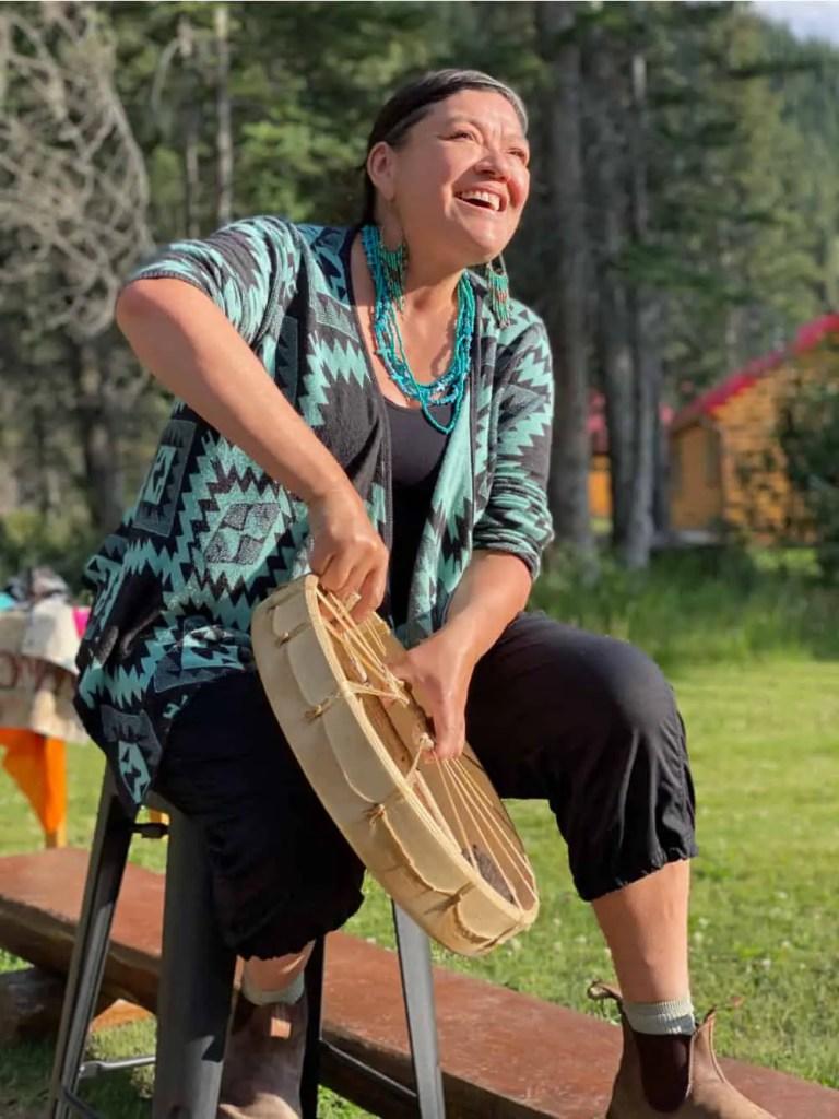 warrior women with drum jasper