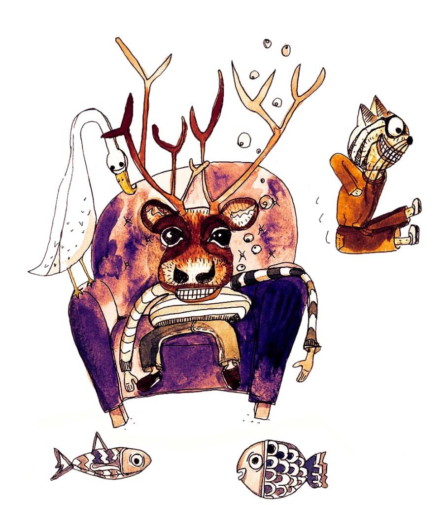 Claudie Linke Illustration_Bar Humbug