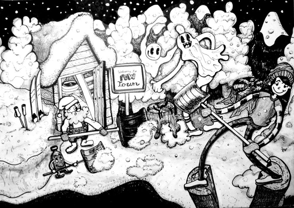 Welcome to Pow Town (Ink)