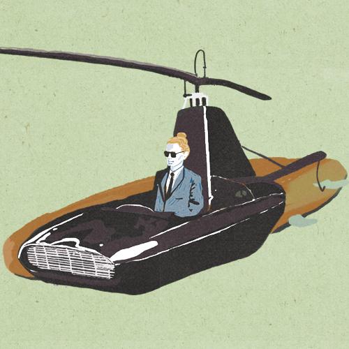 Claudie Linke Illustration_Surf Spaceship
