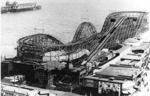 Jack Rabbit Roller Coaster on the Pike