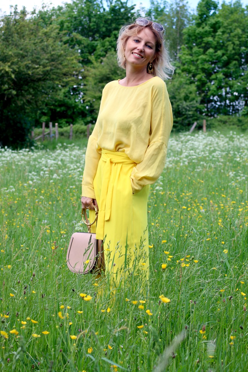Wearing yellow #3: yellow allover with Chloé Nile
