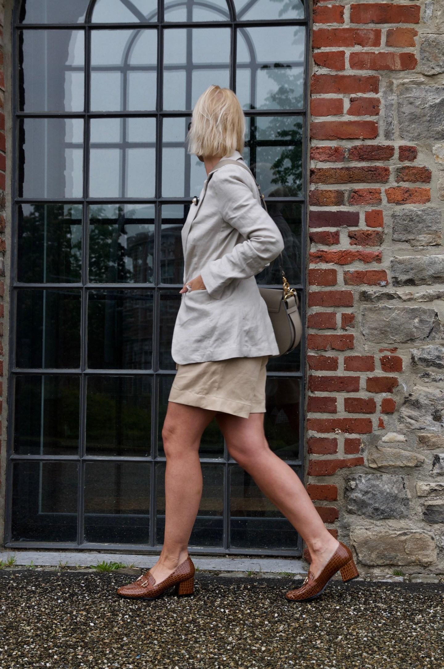 Sommeranzug mit Paperbag Shorts - claudinesroom