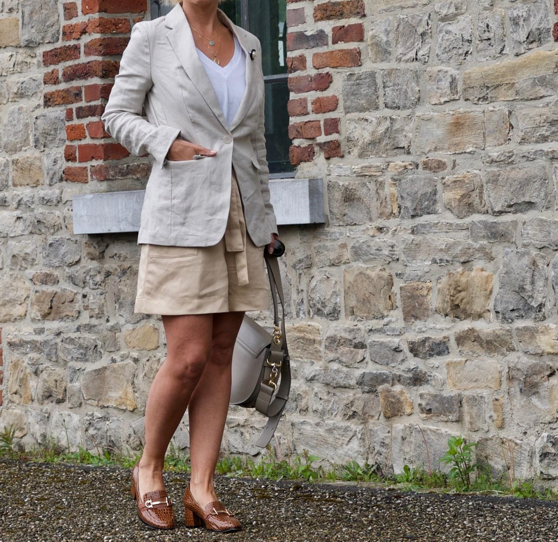 Businesslook: Anzug mit Shorts