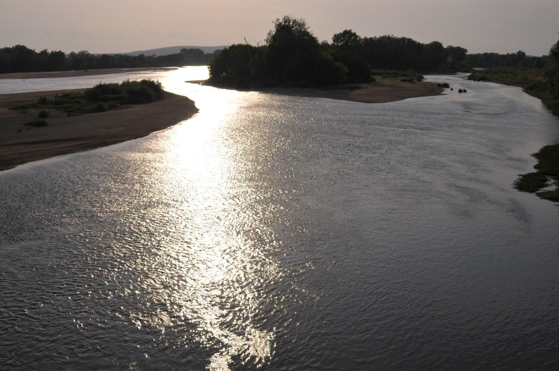 Sonnenuntergang Loire