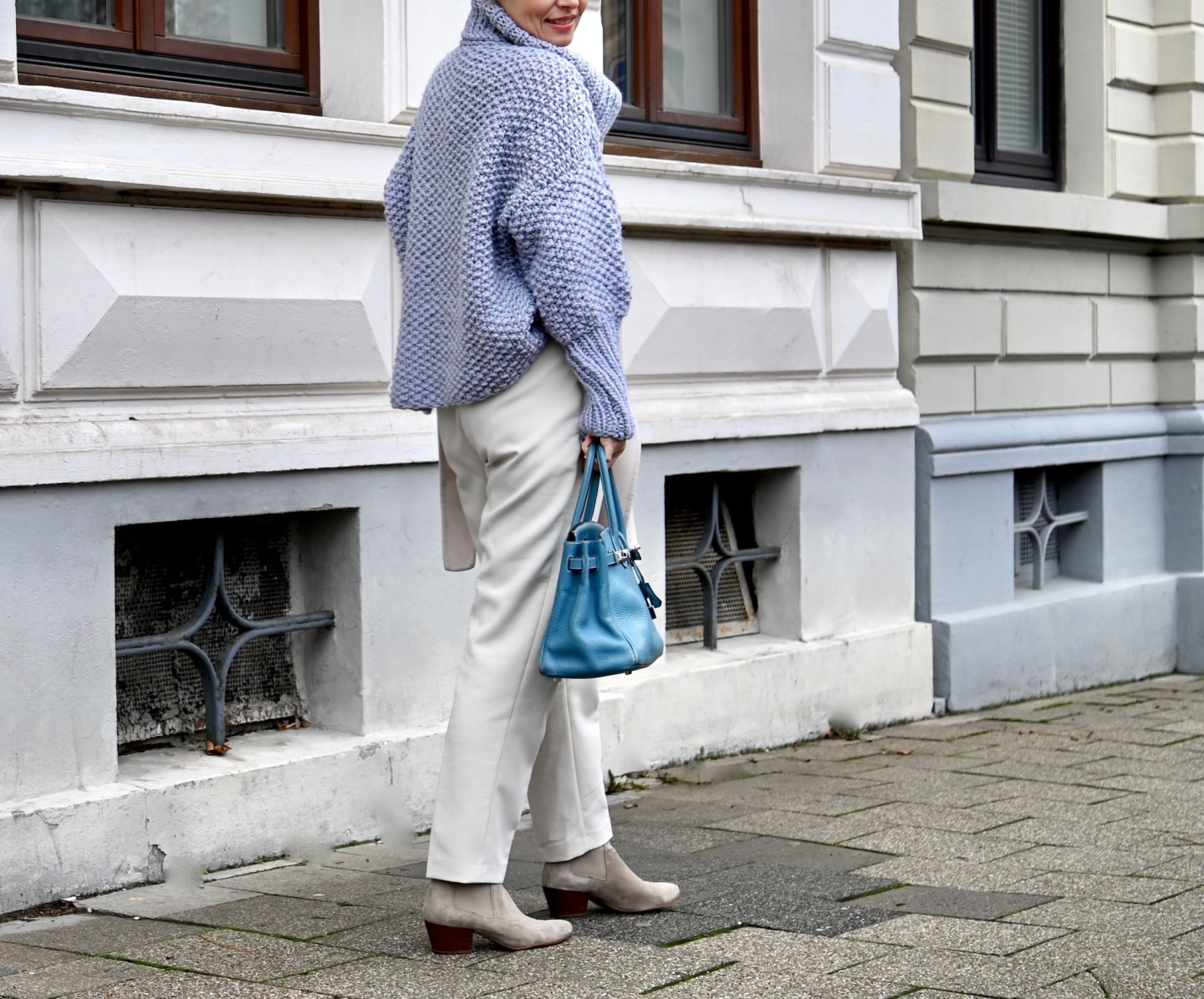 Oversized knit in Winter colours - claudinesroom