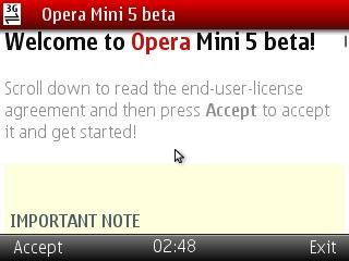 Opera Mini 5 Beta disponível para os Samsung Star - Teclado Touch (2/2)