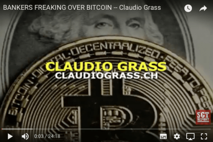 BANKERS FREAKING OVER BITCOIN — Claudio Grass