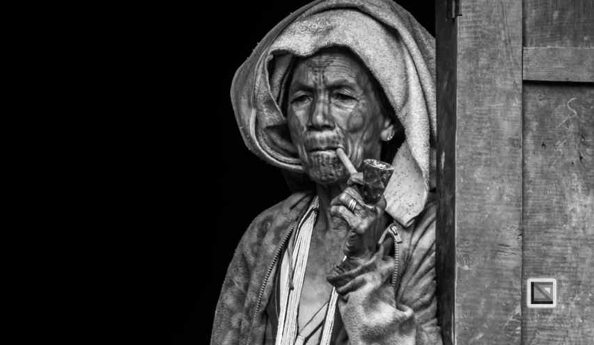The Chin tribe with face tattoos in remote Chin state, Myanmar