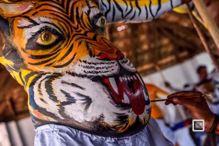 India - Kerala - Thrissur - Onam Festival - Pulikali-10