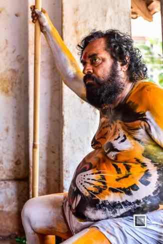 India - Kerala - Thrissur - Onam Festival - Pulikali-20
