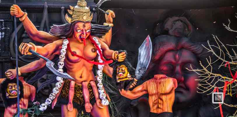 India - Kerala - Thrissur - Onam Festival - Pulikali-63