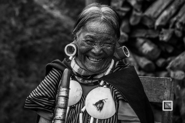 Myanmar Chin Tribe Portraits Black and White-5