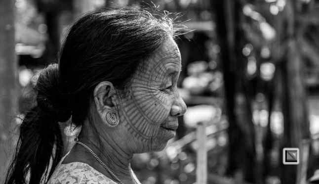 Myanmar Chin Tribe Portraits Black and White Mrauk-U-39