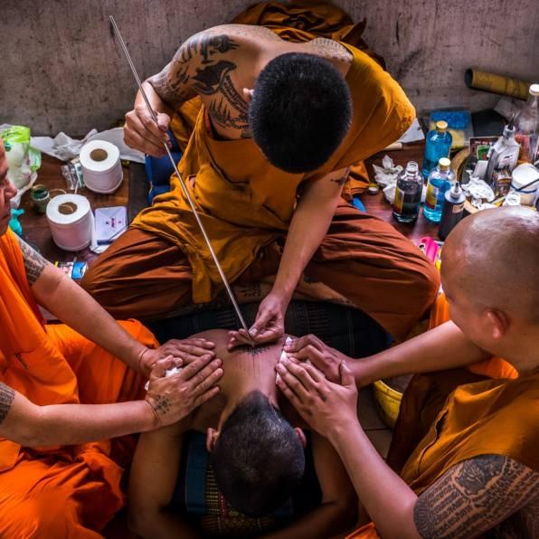Wai Khru Festival near Bangkok (Thailand) - home of the famous Sak Yant tattoo artists