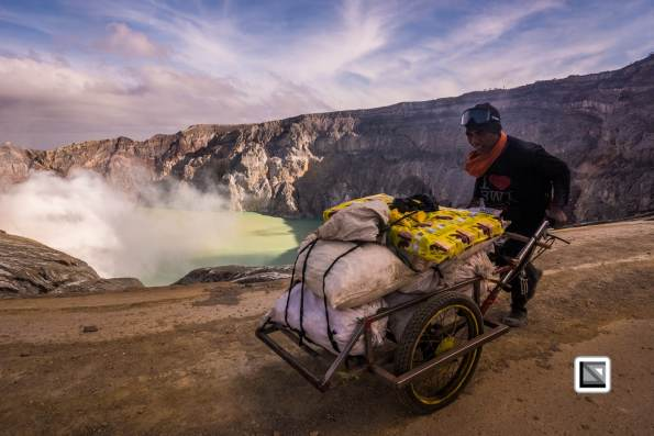 Ijen Volcano, East Java, Indonesia - sulfur mining site and tourist hotspot