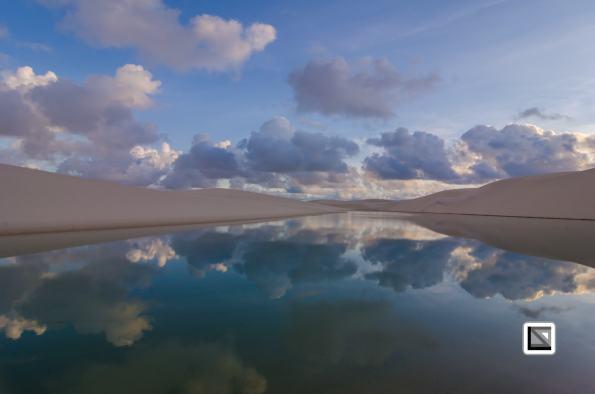 Sand Dunes with lagoons - Lencois Maranhenses National Park in Brazil