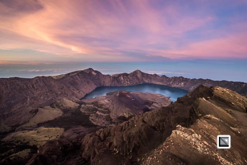 Rinjani Volcano in Lombok, Indonesia