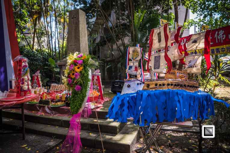 Ghost Month celebration in Keelung Taiwan