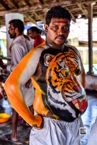 India - Kerala - Thrissur - Onam Festival - Pulikali-6