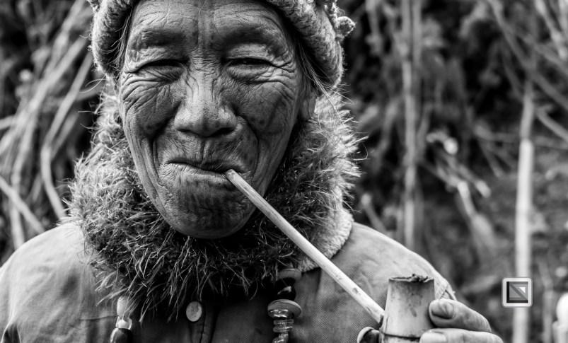 Myanmar Chin Tribe Portraits Black and White-16