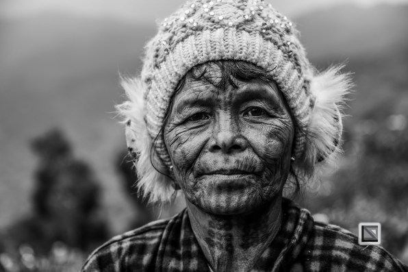 Myanmar Chin Tribe Portraits Black and White-22