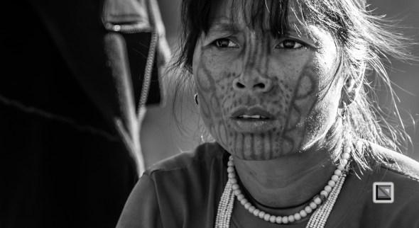 Myanmar Chin Tribe Portraits Black and White-3