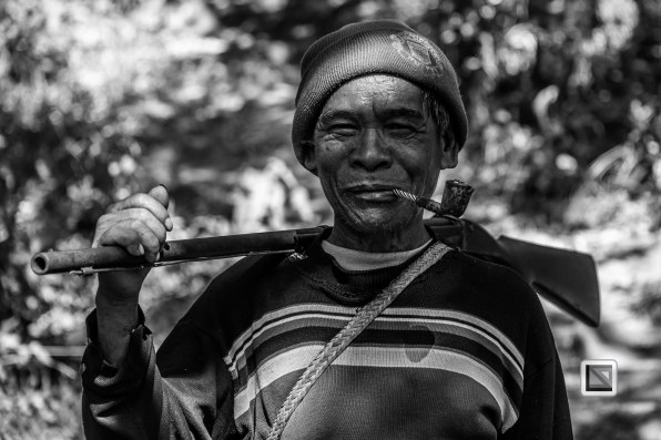 Myanmar Chin Tribe Portraits Black and White-33
