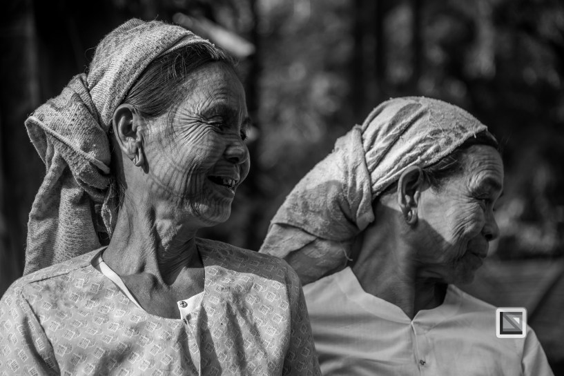 Myanmar Chin Tribe Portraits Black and White Mrauk-U-26