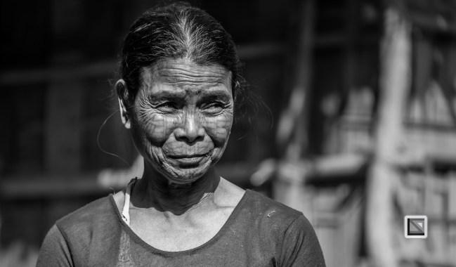 Myanmar Chin Tribe Portraits Black and White Mrauk-U-31