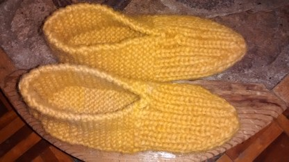 Warm woolen slippers...