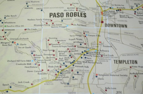 Photo by Claudia Grunow -Mapa das vinícolas da cidade.